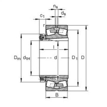 Bantalan 239/750-K-MB + H39/750-HG FAG