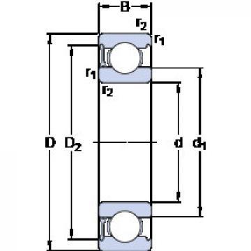 Bantalan 634-RZ SKF