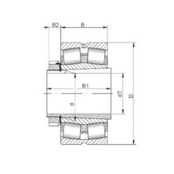 Bantalan 23936 KCW33+H3936 ISO