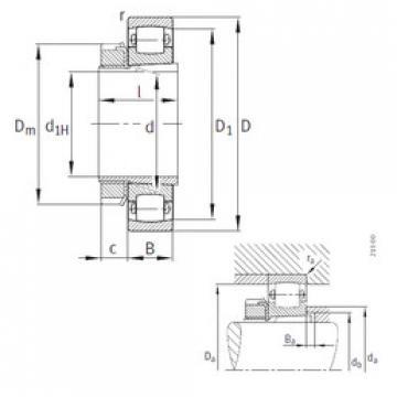 Bantalan 20213-K-TVP-C3+H213 FAG