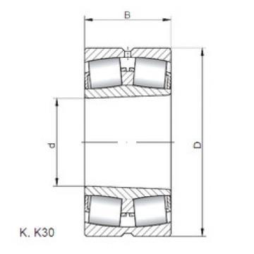 Bantalan 23936 KW33 ISO