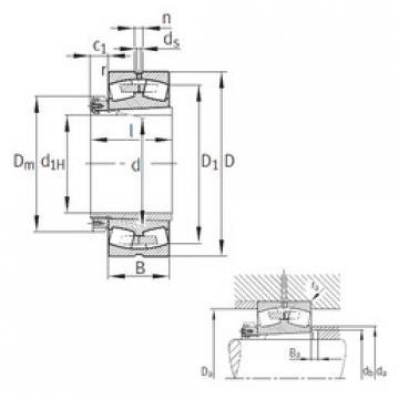 Bantalan 239/710-K-MB+H39/710 FAG