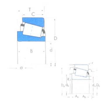 Bantalan M86643/M86610 Timken