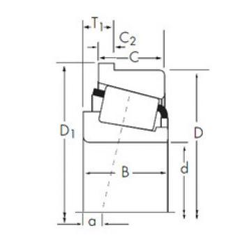 Bantalan M86649/M86611-B Timken