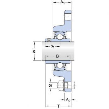 Bantalan FYT 55 TF/VA228 SKF
