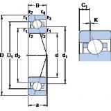 Bantalan 7011 CE/HCP4AH1 SKF