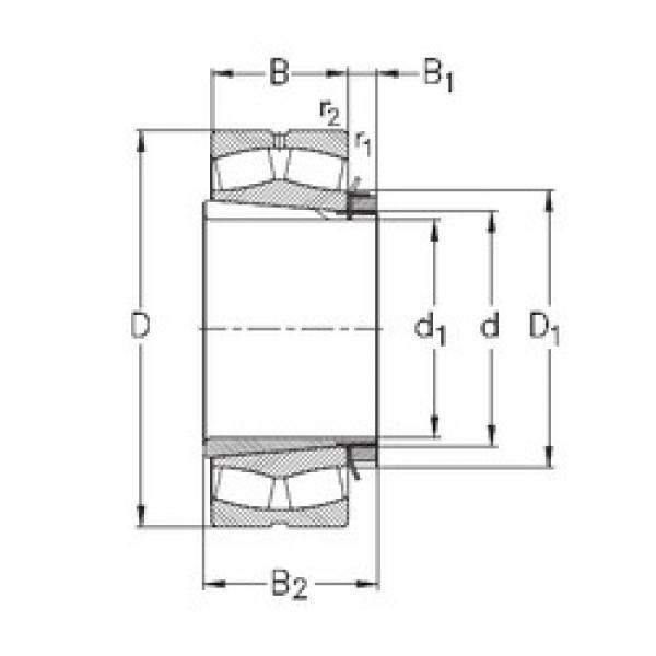 Bantalan 239/750-K-MB-W33+OH39/750-H NKE #1 image