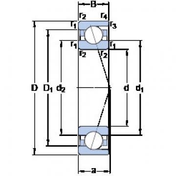 Bantalan 71802 ACD/HCP4 SKF